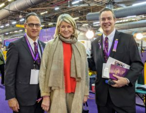 I always enjoy attending the Westminster Kennel Club Dog Show - not just to see my own dogs compete, but to see other breeds and to learn all about their special characteristics and care. Here I am with Westminster Kennel Club Delegate to the AKC, David Haddock, and the President of the Westminster Kennel Club, Charlton Reynders, III.