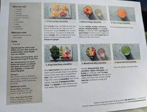 The recipes are easy-to-follow and include just three main steps. We also add the list of ingredients, the tools needed, and the nutrition facts label for each drink on the recipe card.