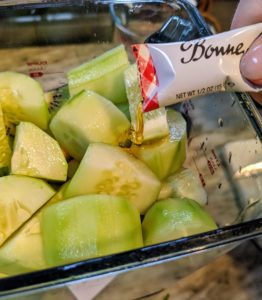 And finally, the honey and liquid of choice are added. We suggest coconut water, which is full of electrolytes and nutrients.