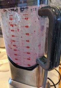 And then mixed on high with ice until smooth.
