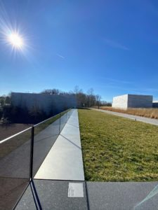 This is Heizer overlook located along the main path near the Entry Pavilion of Glenstone.