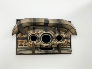 """This piece is """"Untitled"""" (1962) by Lee Bontecou."""