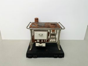 """This is called """"Herd (Stove)"""" (1969) by Dieter Roth."""