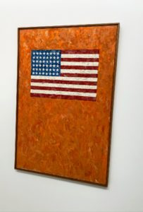 """This is simply called """"Flag on an Orange Field II"""" (1958) by Jasper Johns."""