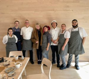 And here I am with the Cafe staff - Lily, Dave, Chef Brian Patterson, Karyn, Eddie, Emily, and Tomas. It was a fun visit to Glenstone - please stop by the next time you are in the area.