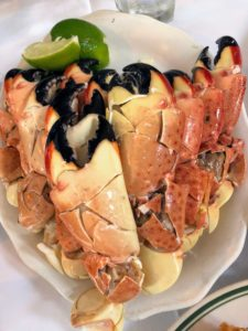 We ordered lots of stone crab claws - they are always so, so delicious.