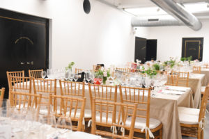 The dining room was set with flowers and vintage pieces from the museum. (Photo by WorldRedEye.com)