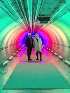 Marc and I stopped for this fun photo in the Rainbow Light installation. If you're in the New York City area, the annual Orchid Show at The New York Botanical Garden is a must-see. You will absolutely love it.