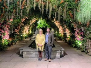 "Here I am with Marc Hachadourian. Marc and I have known each other for many years. He has been on my television and radio shows sharing his vast knowledge of orchids. He is also the author of ""Orchid Modern: Living and Designing with the World's Most Elegant Houseplants"" which was released last fall by Timber Press."