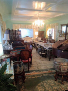 The home was filled with antique pieces. Judy also owns Brass Scale Antiques on Dixie Highway in West Palm Beach. http://www.brass-scale-antiques.com
