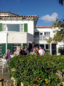 On another day, we spent some time at an estate sale at a historic home in West Palm Beach. Judy, who is the sister of my friend, Lis Barron, is an antiques dealer and hosted the sale. There was a very long line to get inside.