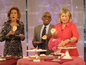 I gave Hoda one that says 'Cloud Nine' and  I thought Meredith should have the 'Cutie' cookie.