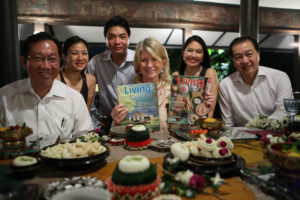 This is the photo that appeared the following day in the Bangkok Post.  Martha Stewart Living is published once a month in Thailand