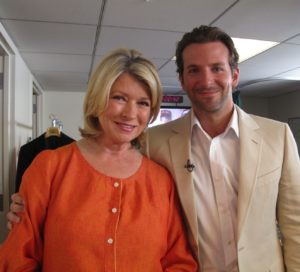 Here I am with Bradley Cooper, a star in the new movie 'The A-Team.'