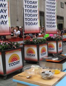 My cooking segment on Today was set up out on the plaza with a large and lively crowd.