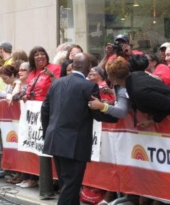 The ever-popular Al Roker greeting some fans
