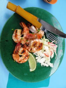 Tequila Grilled Shrimp are wonderful! - http://www.marthastewart.com/recipe/tequila-grilled-shrimp