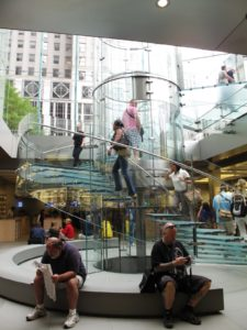 Our next stop was a visit to the Apple store on 5th Avenue.