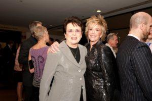 Billie Jean King and Jane Fonda - Photo Credit Nan Melville