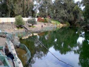 The Jordan River - these are baptismal stations.