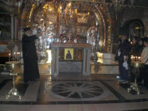 An Armenian Orthodox priest at the Church of the Holy Sepulchre