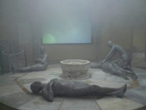 One of the attractions is the mostly intact Turkish bath house (Hamam al-Basha) - no, these are not real people!
