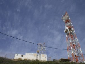 Because Rosh Hanikra marks the border between Israel and Lebanon, there is a sizable naval base and radar station.