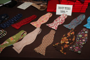 Aaron Caramanis' gorgeous handmade bow ties are so festive.