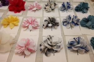 Handle & Spout's beautiful floral hair pins were a big hit.
