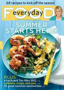 The June issue of Everyday Food is filled with great summer menu ideas.