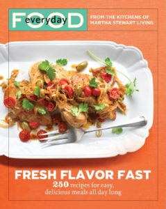 Here is the cover of Fresh Flavor Fast.  Inside, you'll find recipes such as...