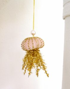 Hannah Milman's - Jellyfish - made of a sea urchin and glitter