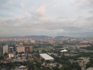 Back at our hotel - Kuala Lumpur from our 38th floor terrace