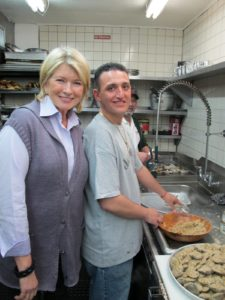 Visiting in the kitchen with Michael Lanza who was up to his elbows with.....