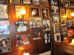 The walls of Rao's are covered with memories.