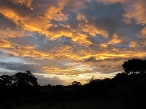 The evening skies were magical and often wild, like this one on the second night out.