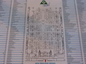 This is a birds-eye view map of the show floor.  There were 15 aisles of vendors!
