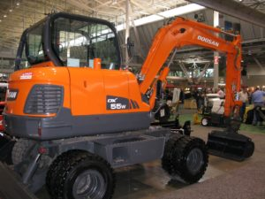 There were also many types and sizes of equipment on the show floor, including this medium sized excavator.