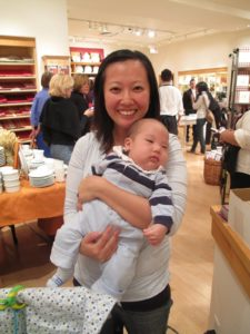This is Sang Mi and her cute baby, Jeremy.