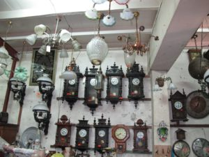 There were many clocks from the Victorian era.