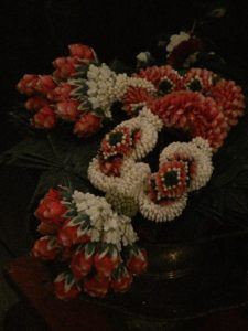 A flower designer was also there to demonstrate the artistry of creating the flower garlands, rings, and balls.