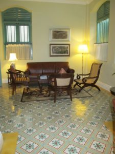 A lovely seating area in the tiled floor room of the Majestic