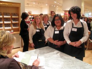 These are Williams Sonoma employees, who were so happy to have me sign their copies.