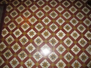 One of the many tile floored areas