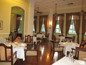 The Majestic dining room is on the second floor.