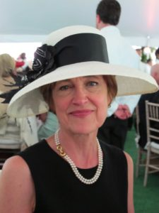 A very put together outfit with a charming hat was worn by Jane's friend, Linda Boehlke.