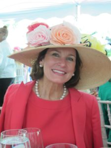 Virginia Stuller wore a beautiful rose decorated hat.