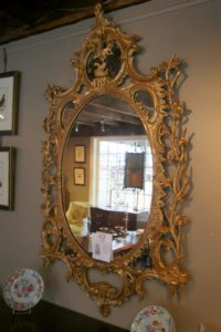This is a fine 19th century Chippendale style gilded mirror - very beautiful!