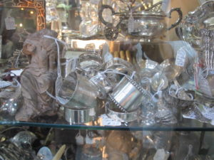 Silver was available in quantity at Wertz - lots of napkin rings.