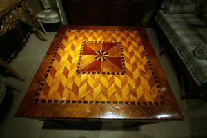 This is an Italian Tavolino table - exquisite inlaid wood!
